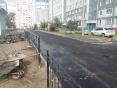 Укладка асфальта во дворе на ул. Амирхана, Казань