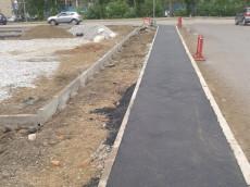 Обустройство тротуара и зоны парковки